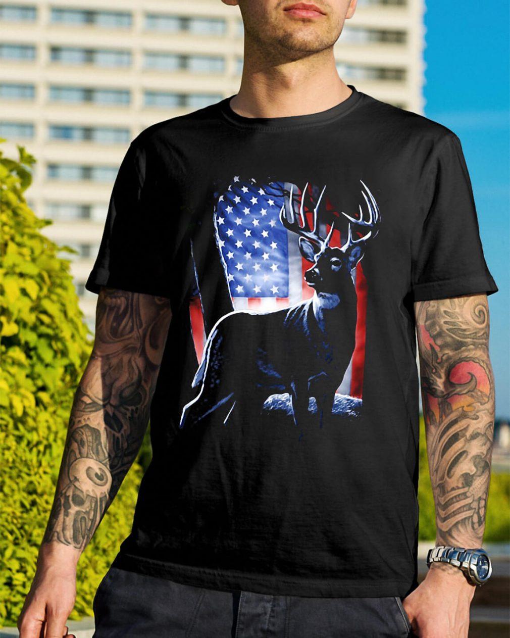 Deer American Flag shirt