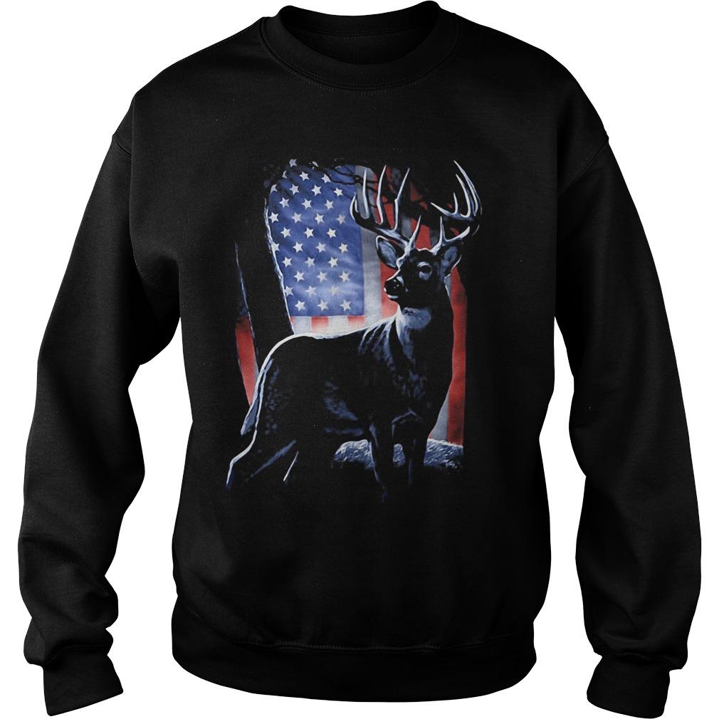 Deer American Flag Sweater