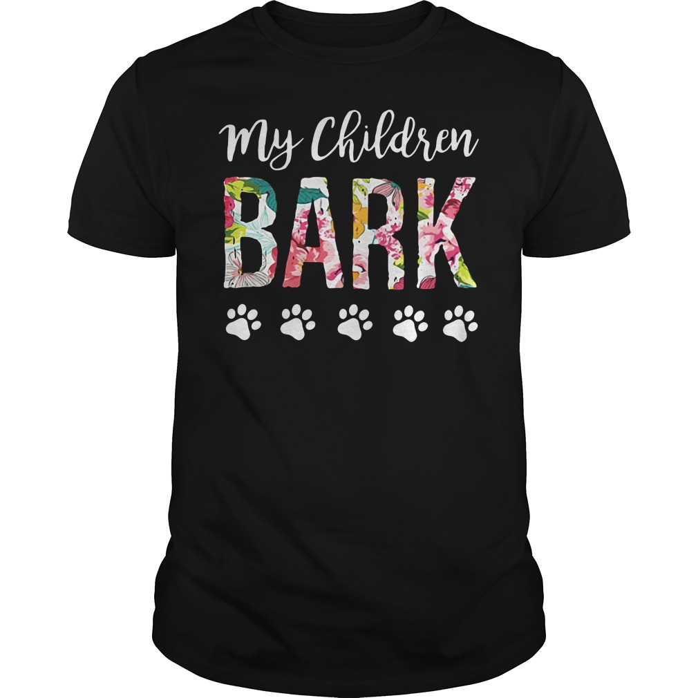 Dog lovers my children bark Guys Shirt