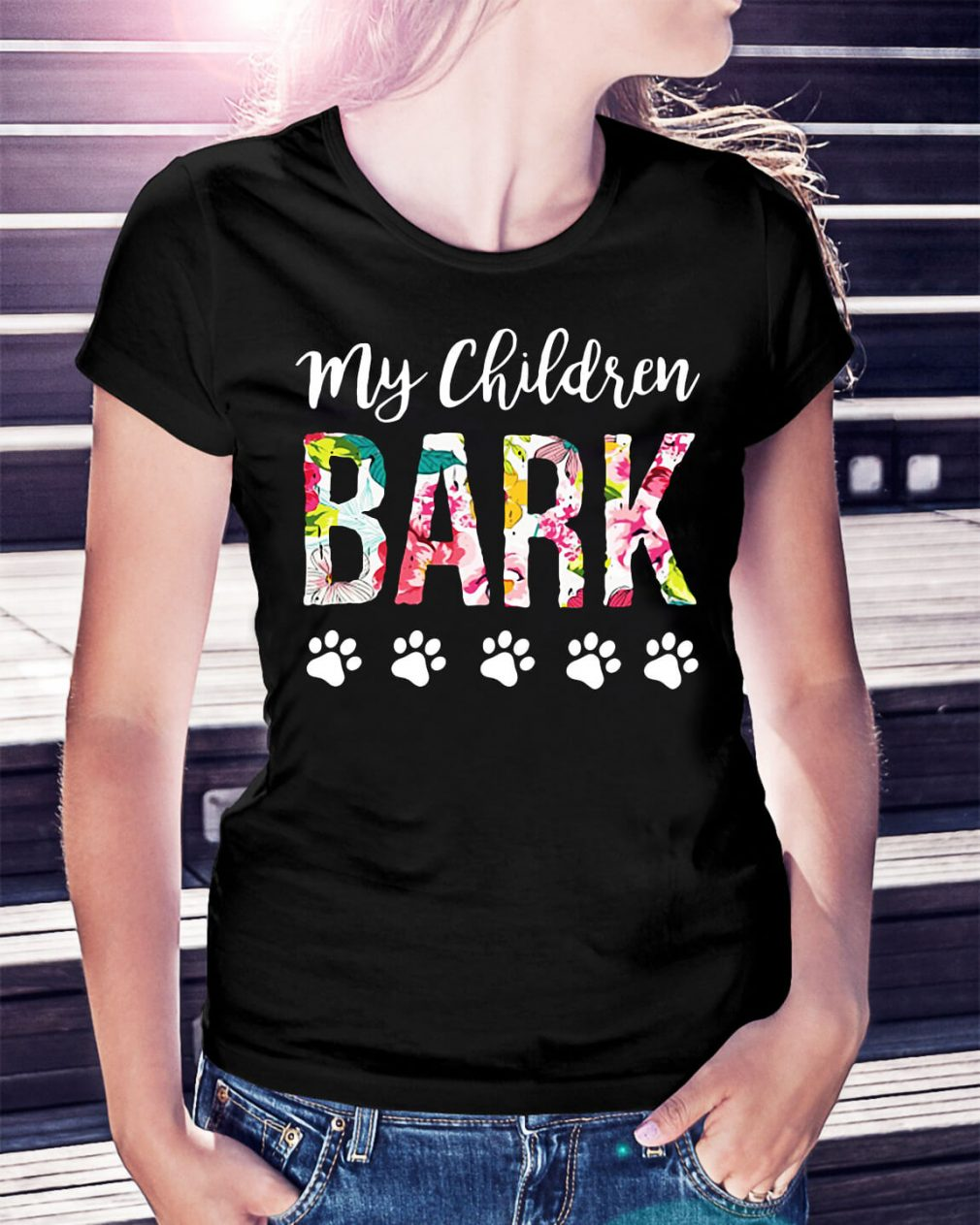 Dog lovers my children bark shirt