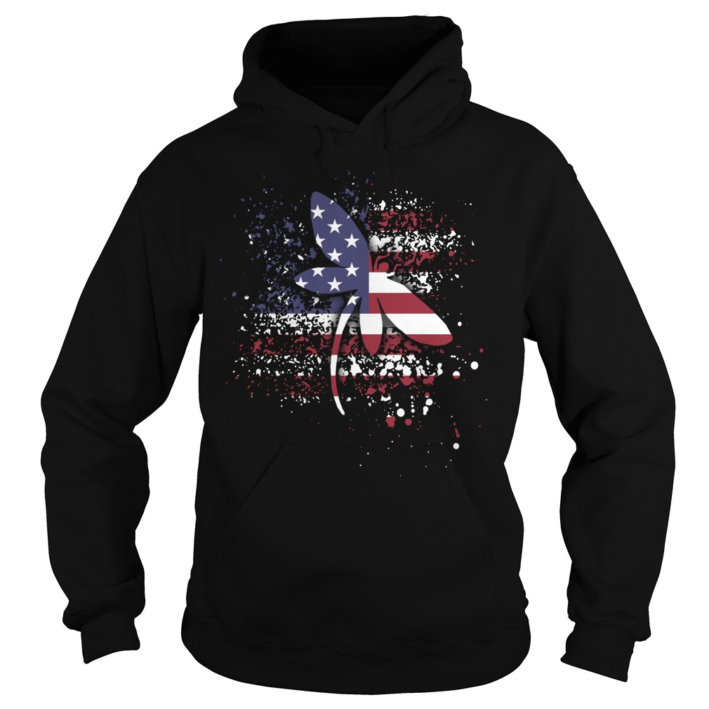 Dragonfly lady Flag Hoodie