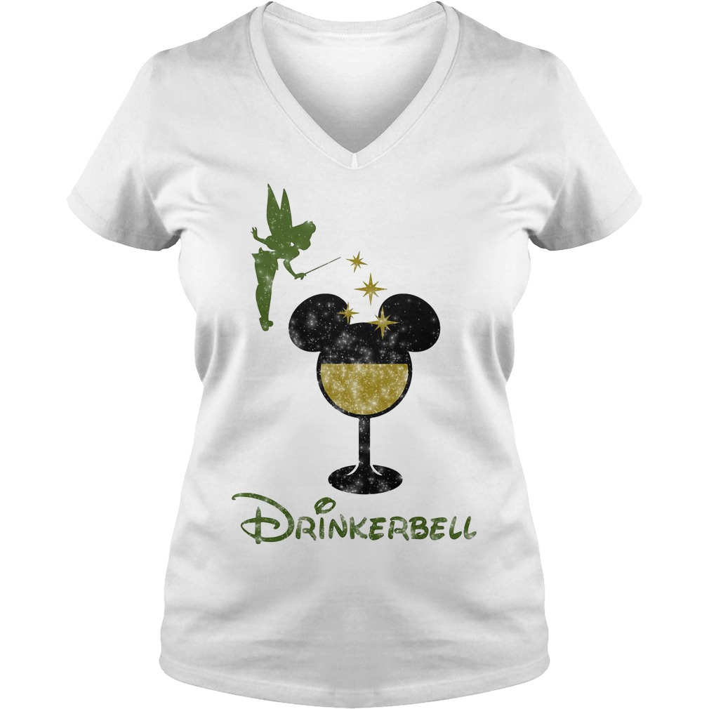 Drinkerbell Tinkerbell Disney V-neck T-shirt