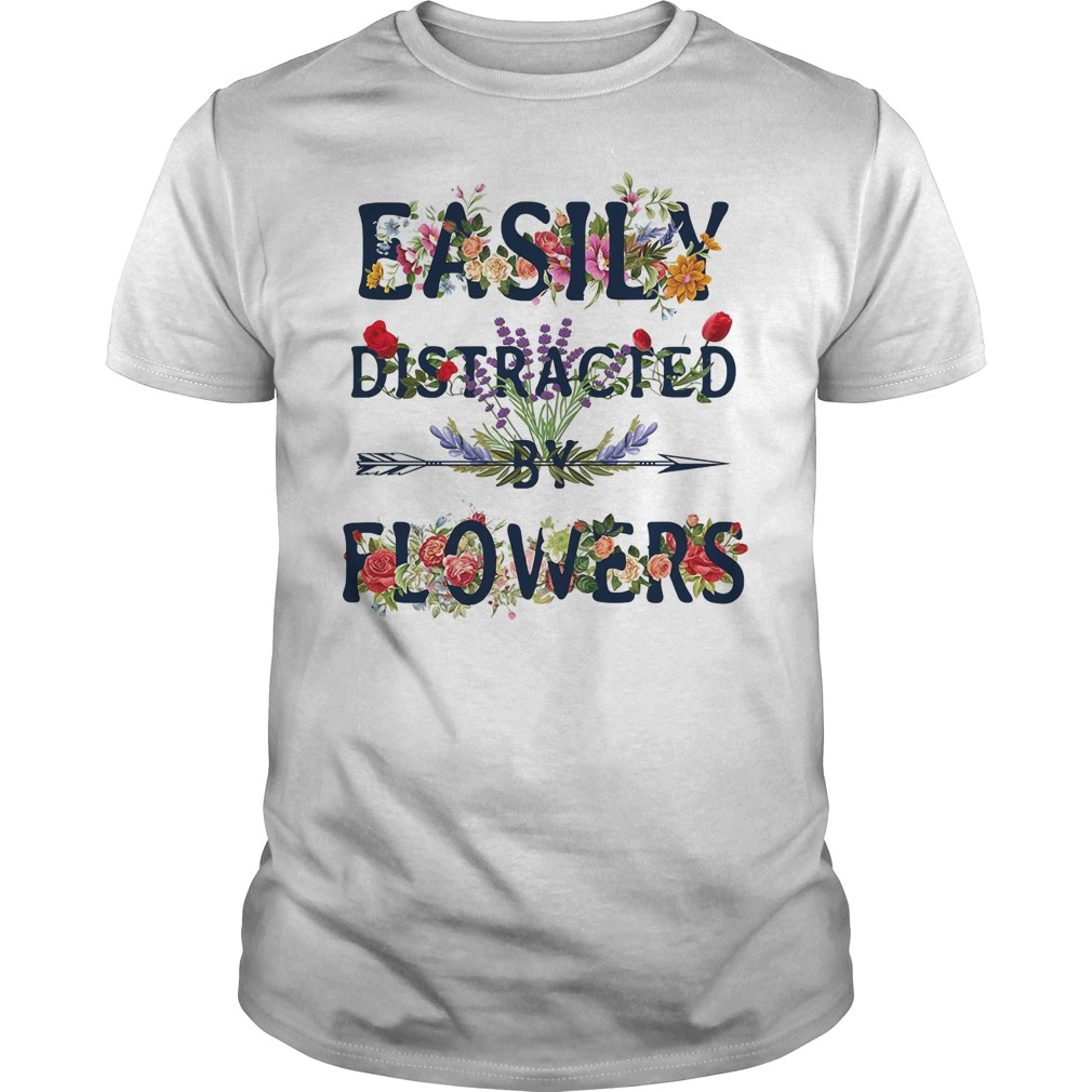 Easily distracted by flowers Guys Shirt
