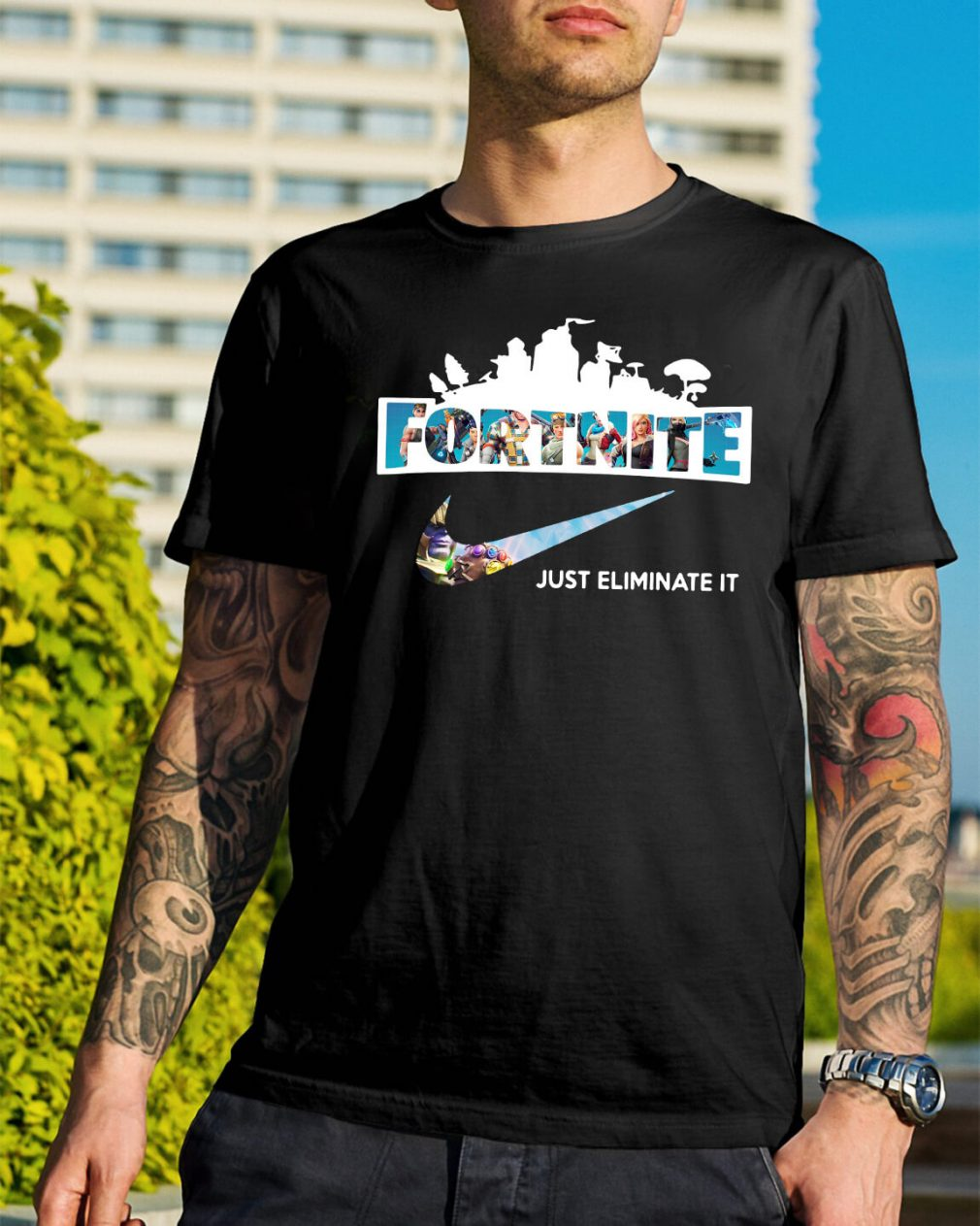 Fortnite just eliminate it shirt