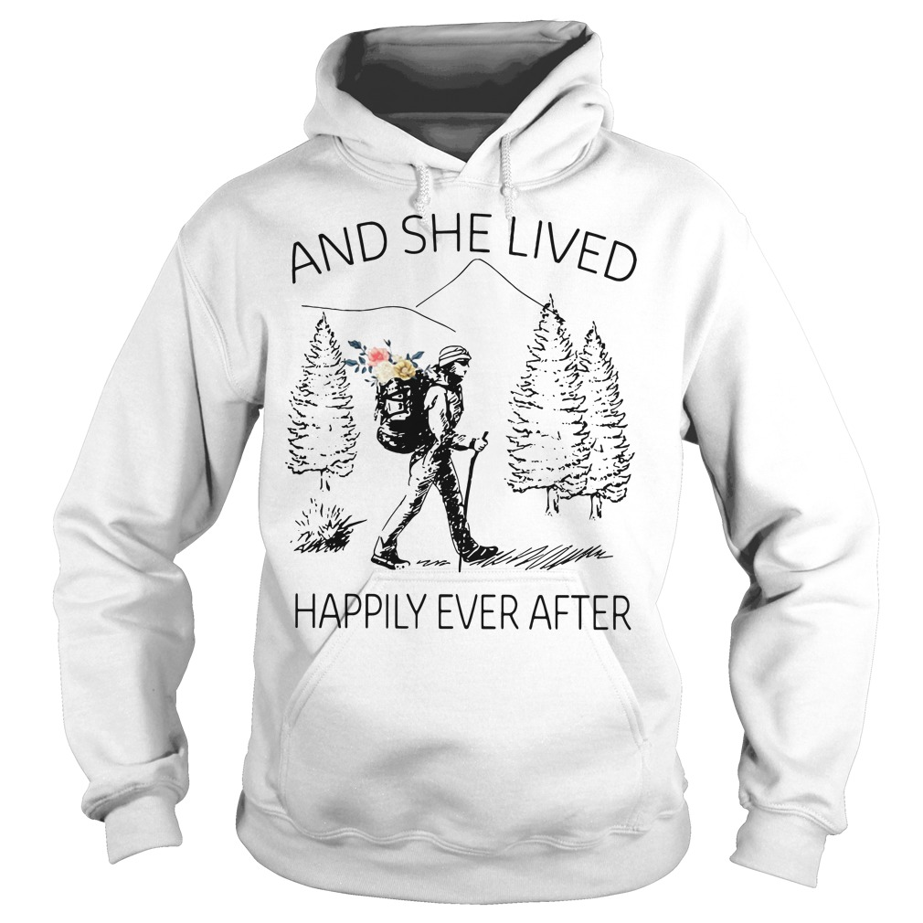 Girl backpacking sketches and she lived happily ever after Hoodie