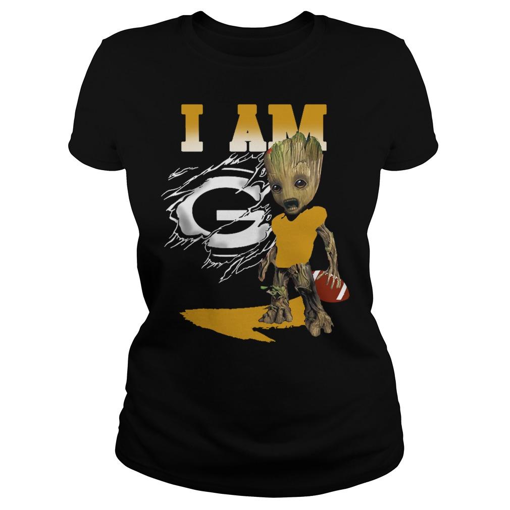 I am Groot American football Ladies Tee