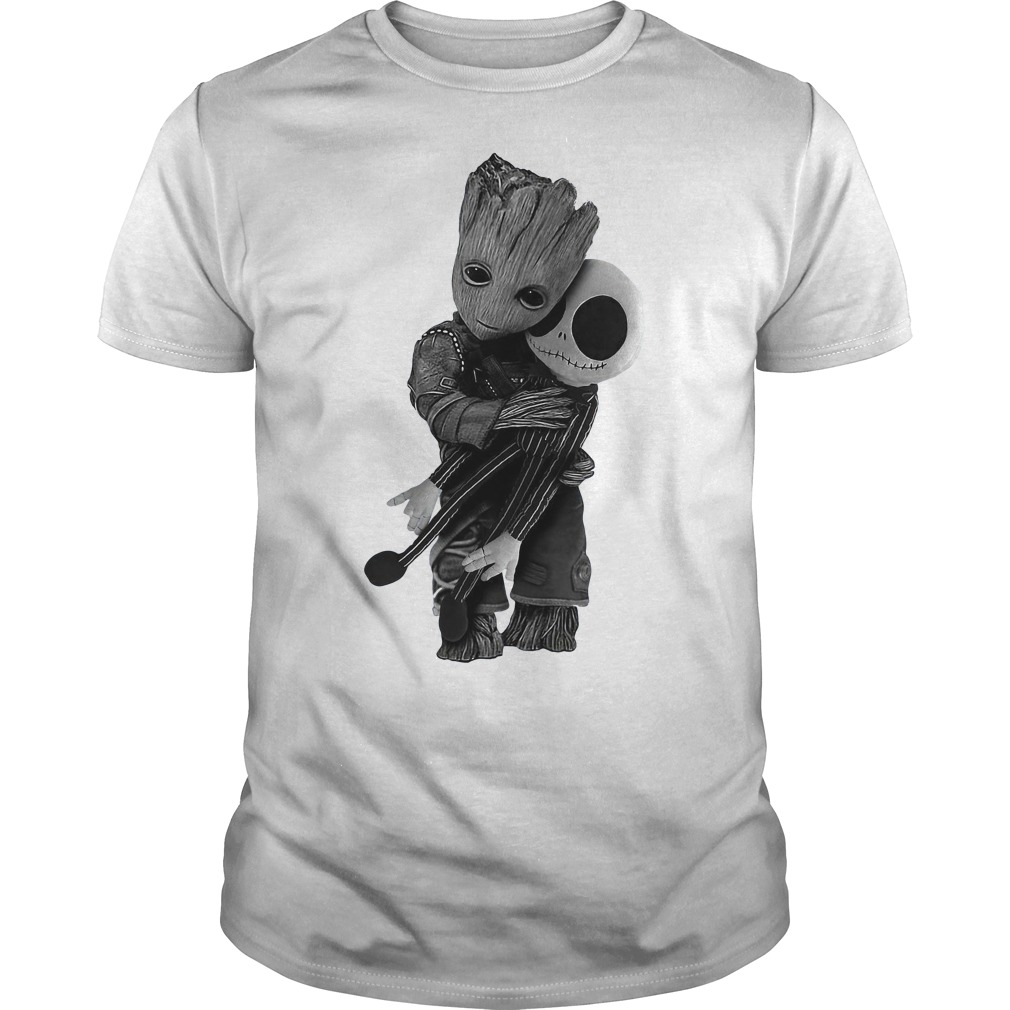 Groot hug Jack Skellington Guys Shirt