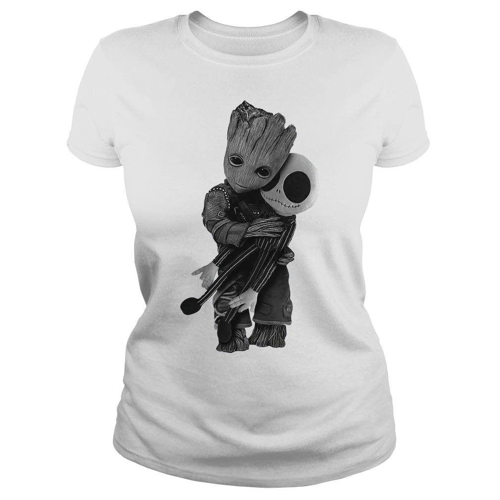 Groot hug Jack Skellington Ladies Tee