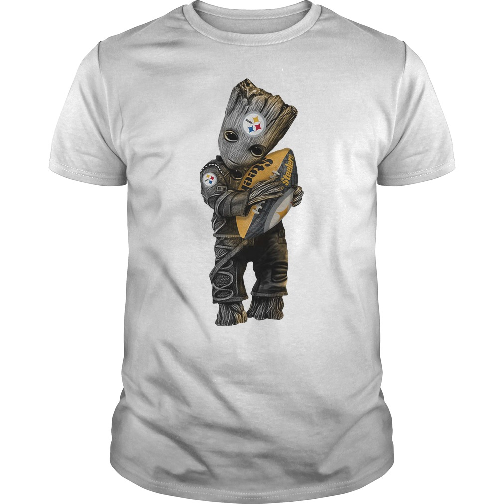 Groot hug Pittsburgh Steelers Guys Shirt
