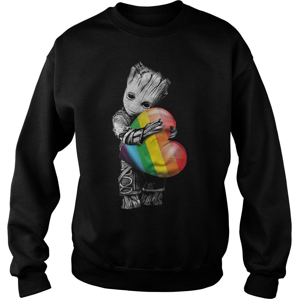 Groot hugging rainbow LGBT Sweater