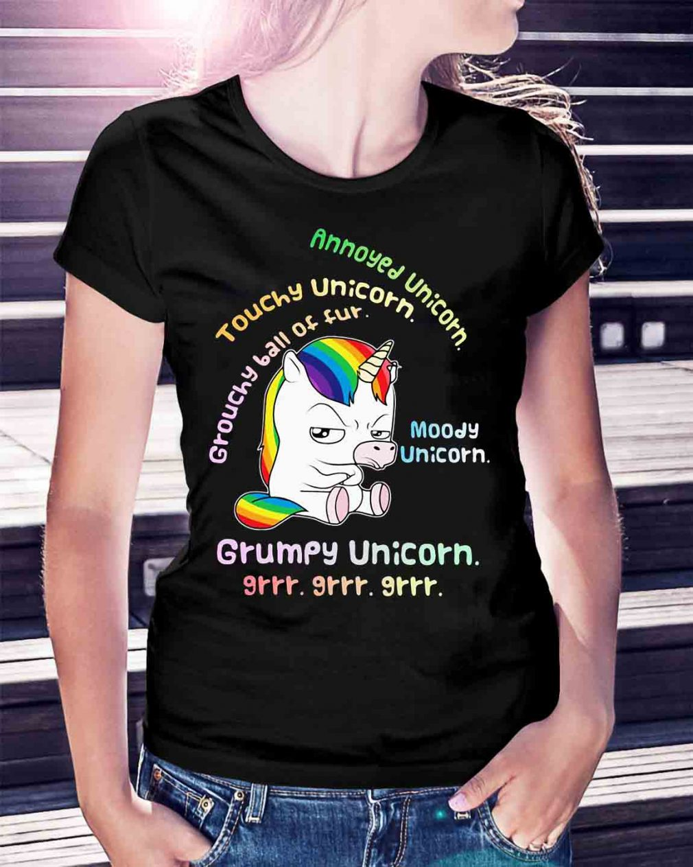 Grumpy Unicorn annoyed unicorn touchy unicorn moody unicorn shirt