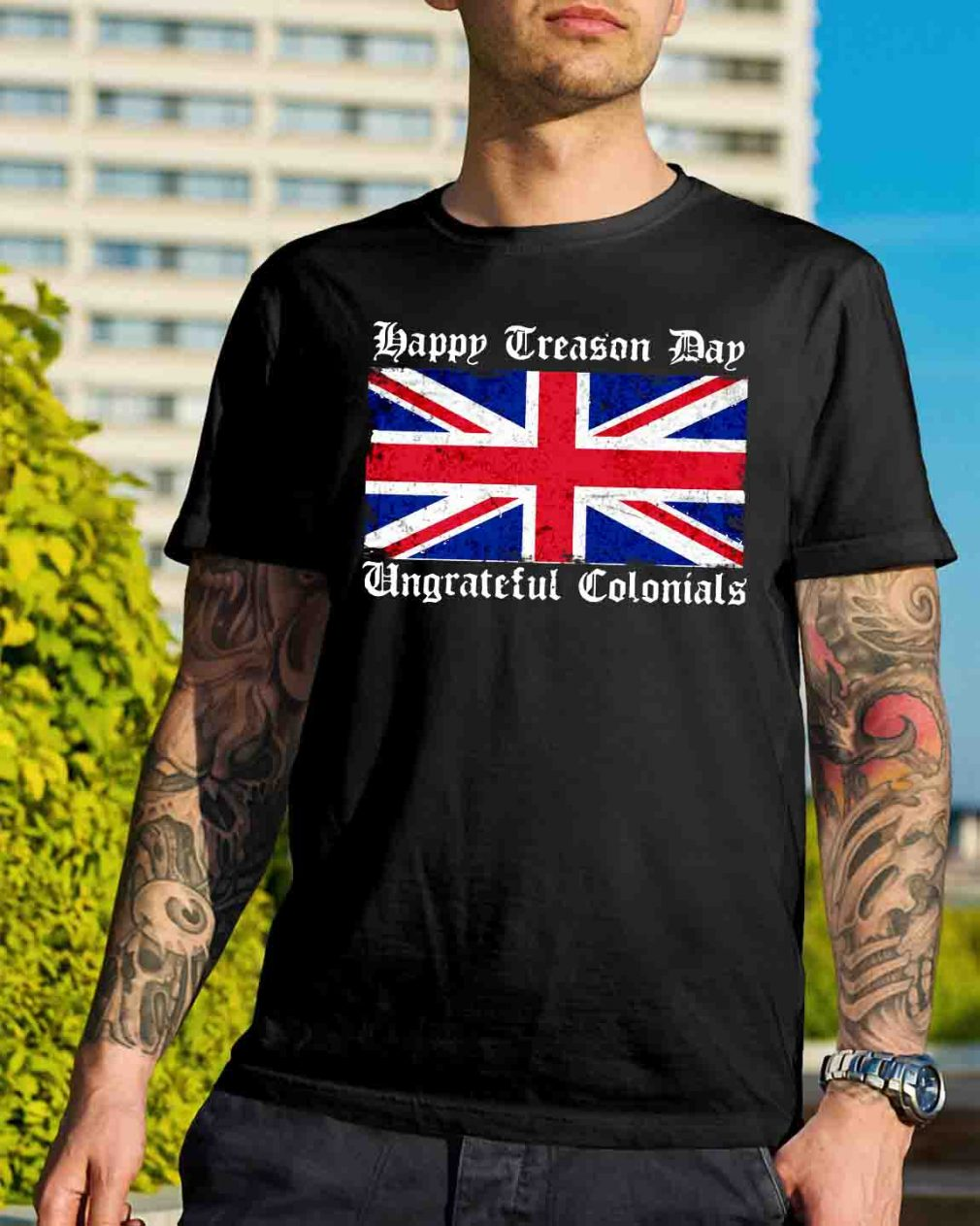 Happy treason day ungrateful Colonials Flag shirt