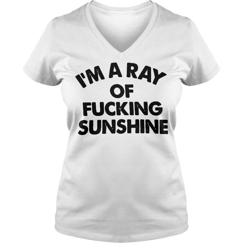 I'm a ray of fucking sunshine V-neck T-shirt