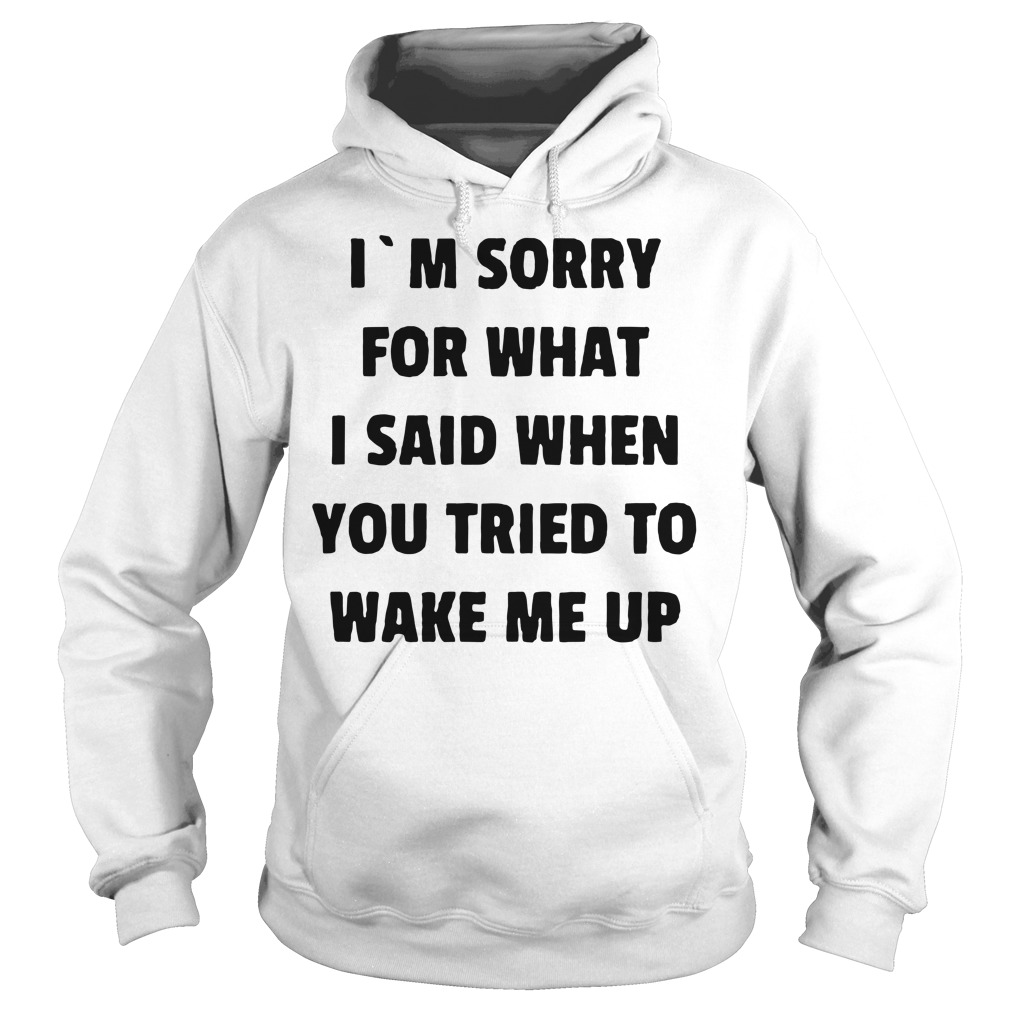 I'm sorry for what I said when you tried to wake me up Hoodie