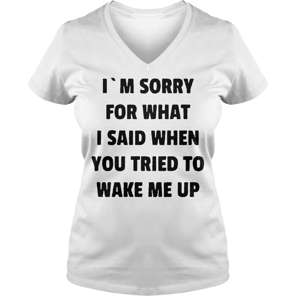 I'm sorry for what I said when you tried to wake me up V-neck T-shirt