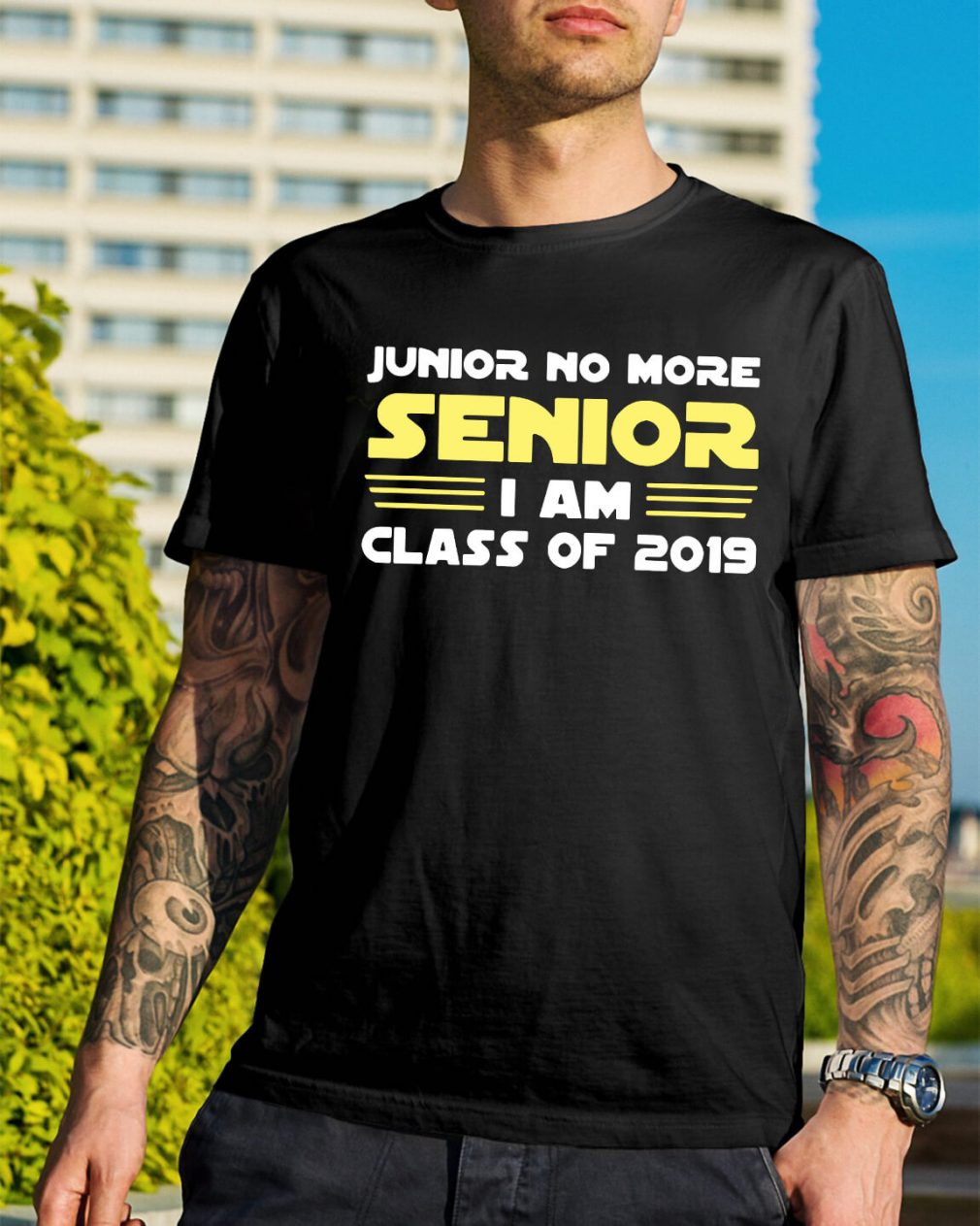 Junior no more senior I am class of 2019 shirt