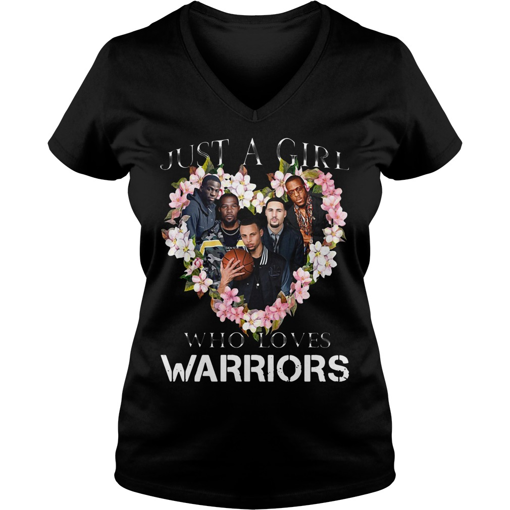 Just a girl who loves Warriors V-neck T-shirt