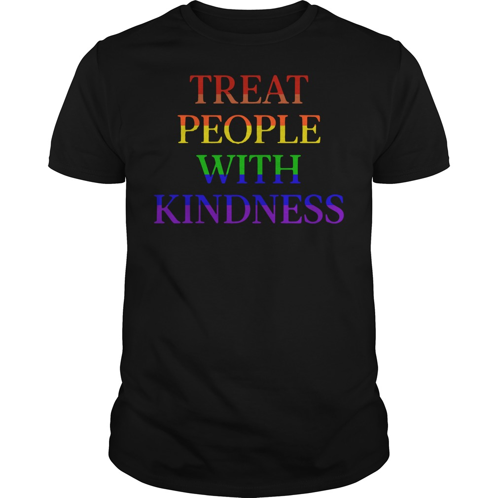 LGBT treat people with kindness Guys Shirt
