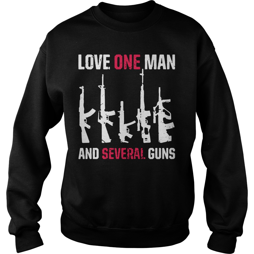 Love one man and several guns Sweater
