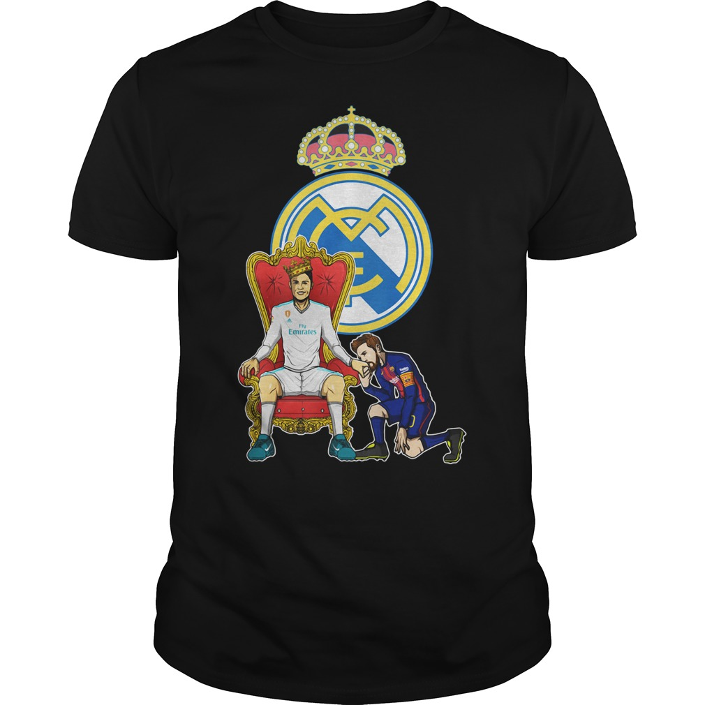 Messi Barcelona love Fly Emirates Ronaldo King Guys Shirt