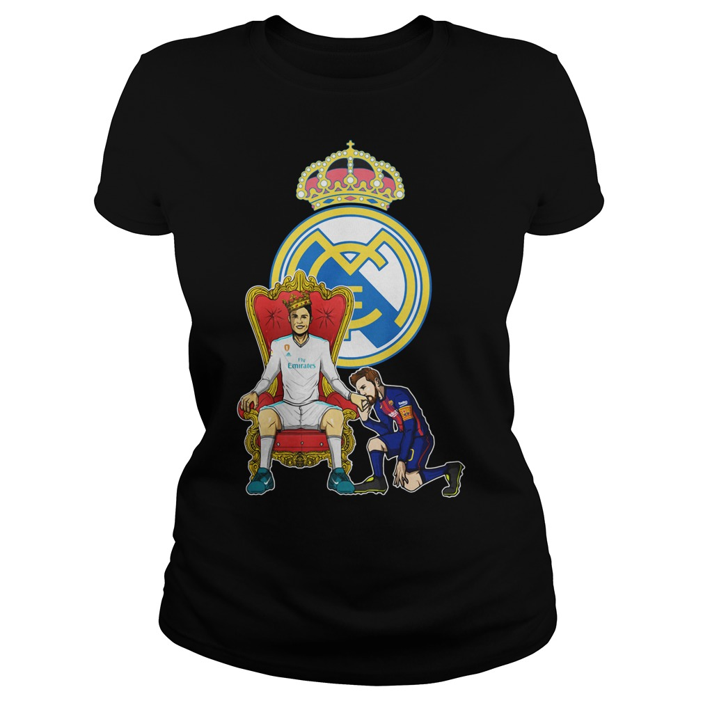 Messi Barcelona love Fly Emirates Ronaldo King Ladies Tee
