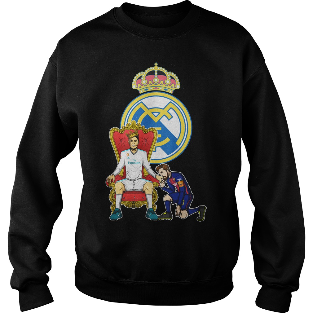 Messi Barcelona love Fly Emirates Ronaldo King Sweater