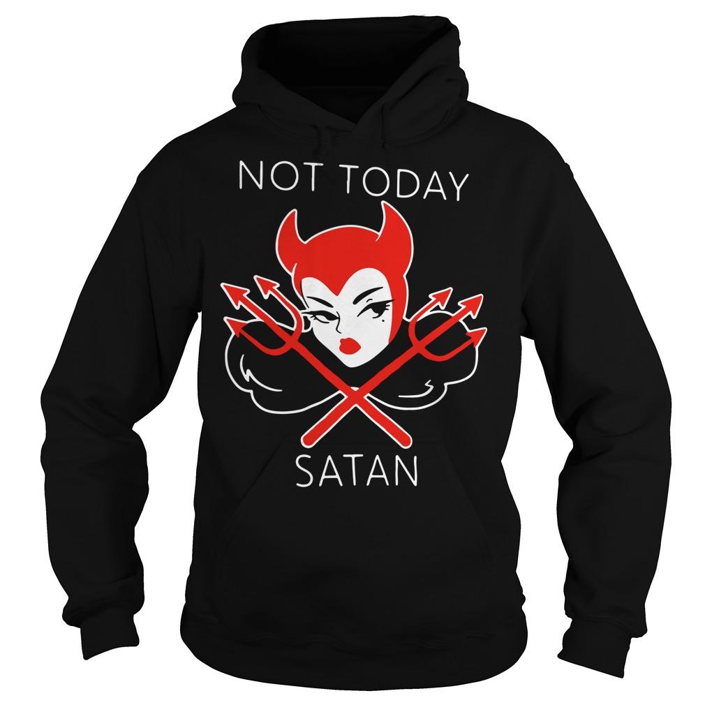 Micheline Pitt not today satan Hoodie