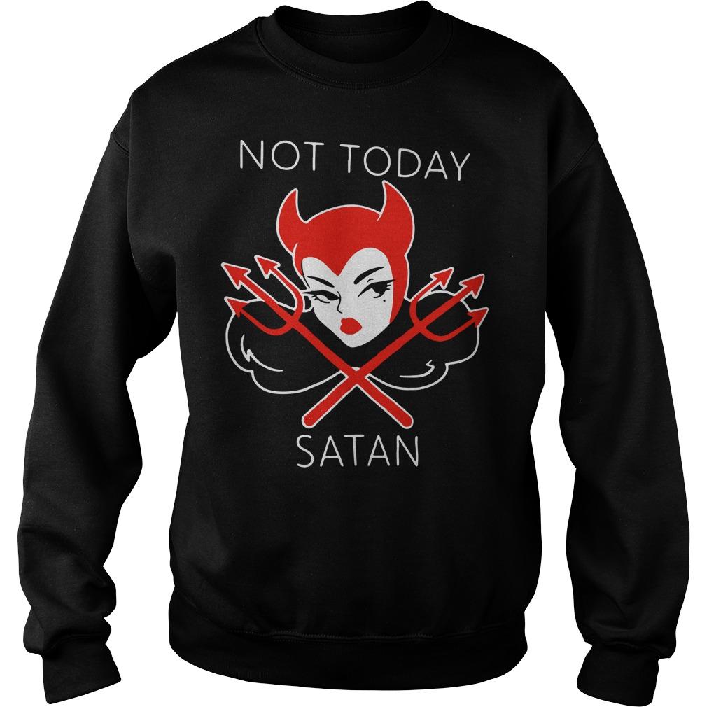 Micheline Pitt not today satan Sweater