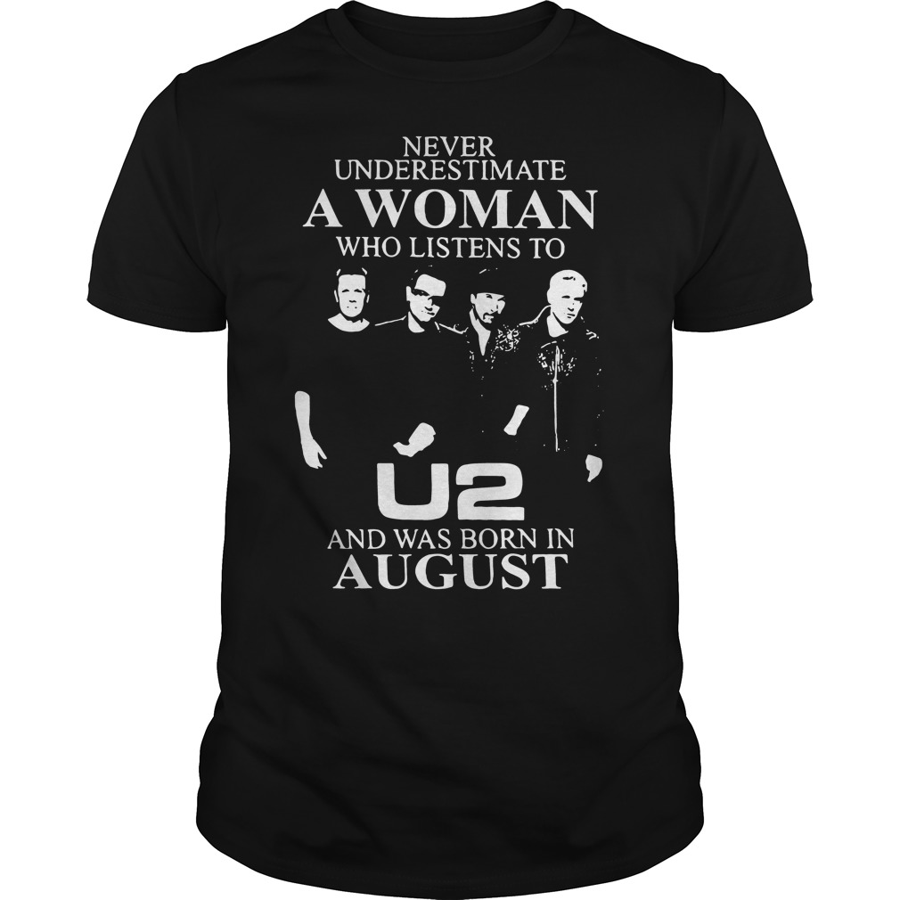 Never underestimate a woman who listens to U2 Guys Shirt