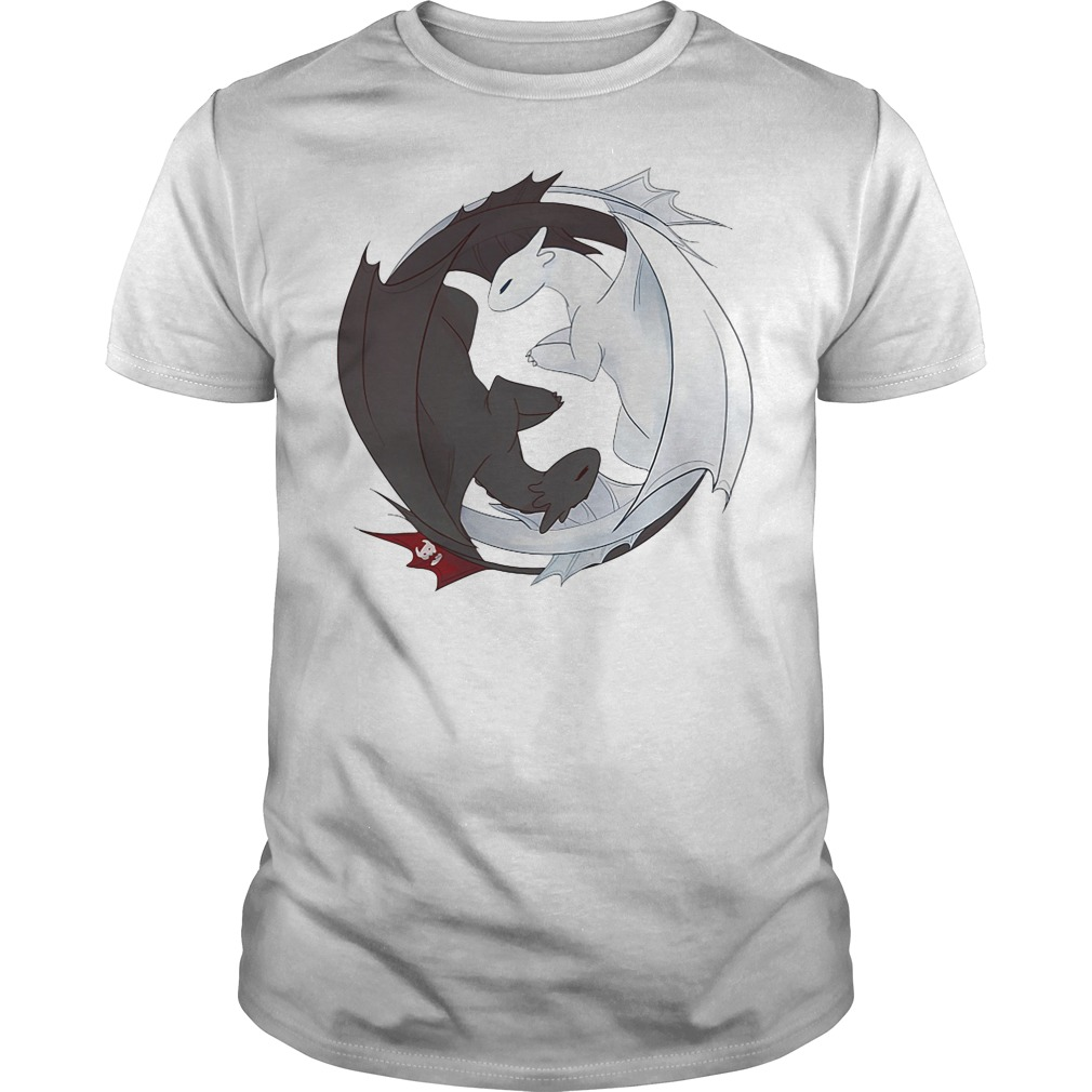 Night Fury and Light Fury dragon Guys Shirt