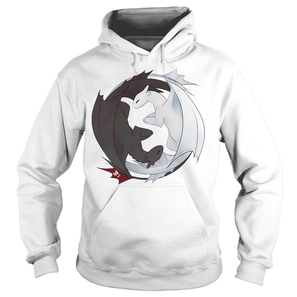 Night Fury and Light Fury dragon Hoodie