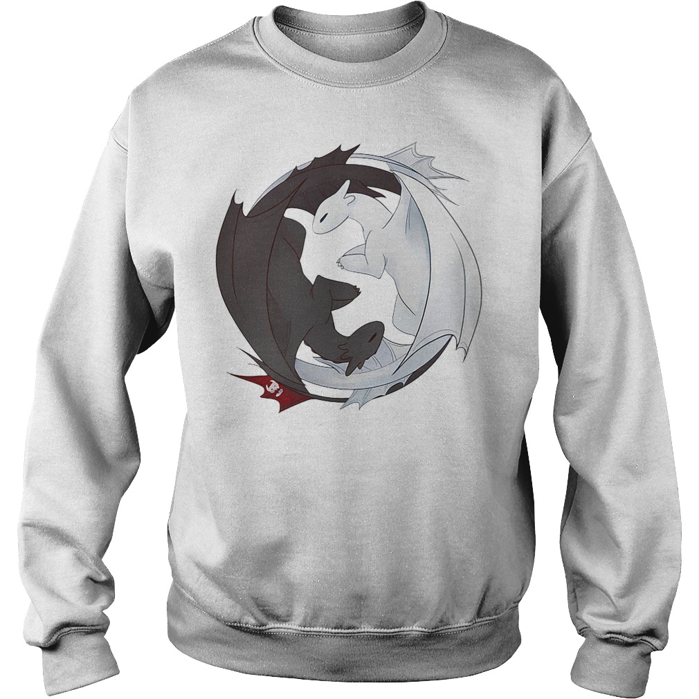 Night Fury and Light Fury dragon Sweater