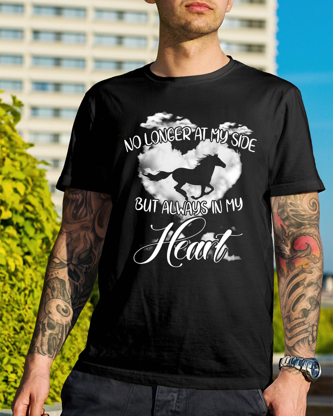 No longer at my side but always in my heart Guys Shirt