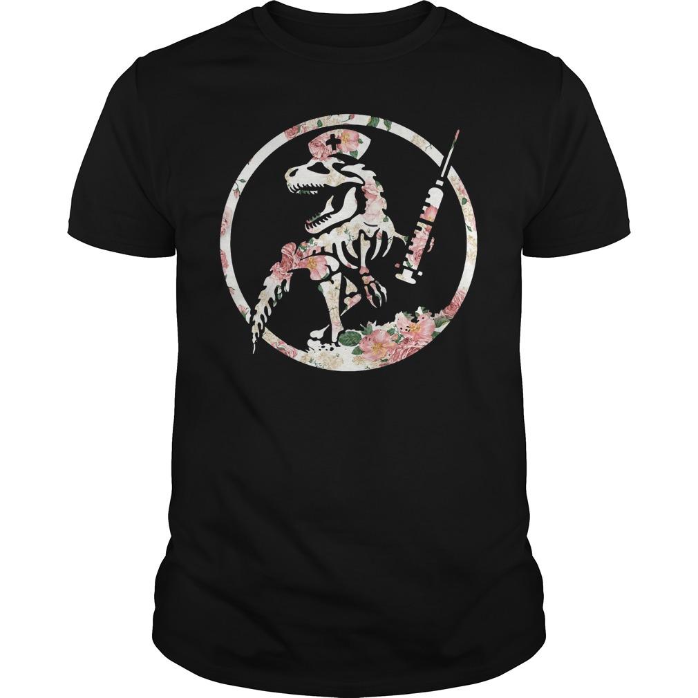 Nurse dinosaur Guys Shirt