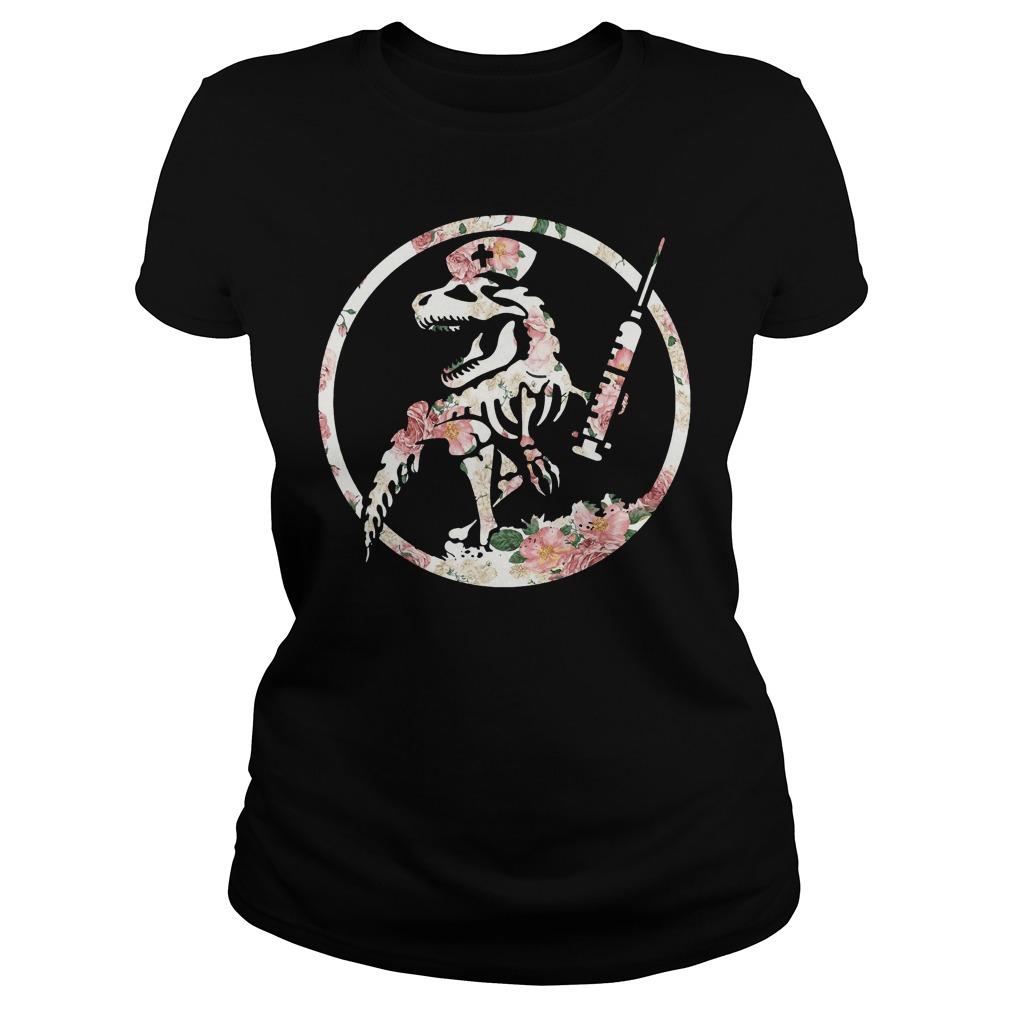 Nurse dinosaur Ladies Tee