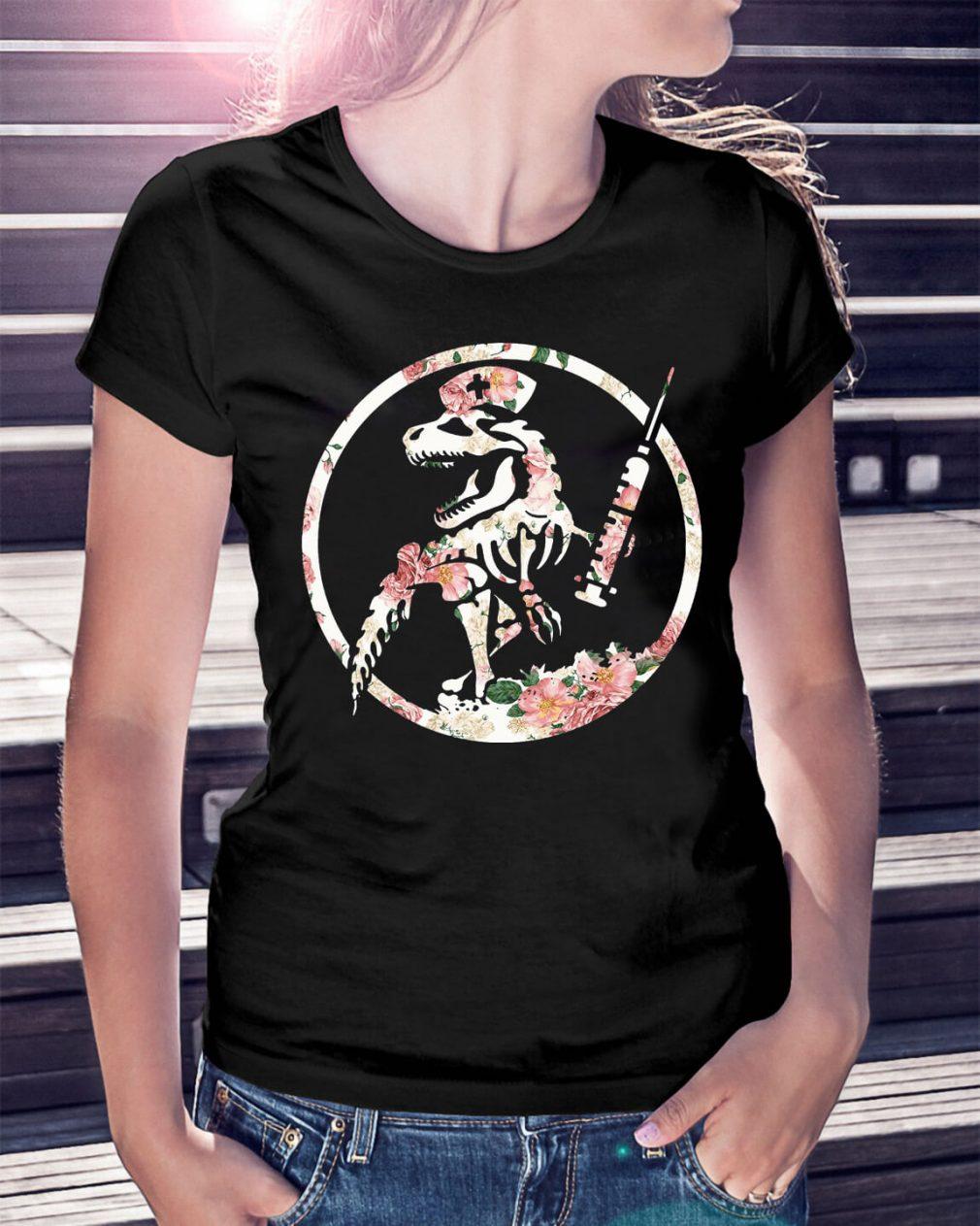 Nurse dinosaur shirt