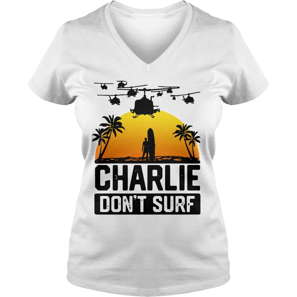 Official Charlie don't surf V-neck T-shirt