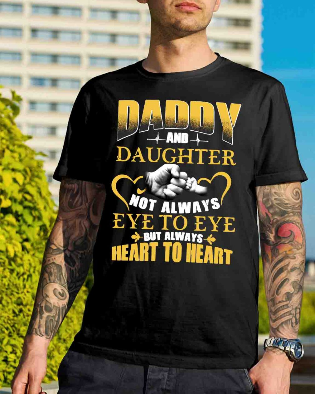 Official Daddy and daughter not always eye to eye but always heart shirt