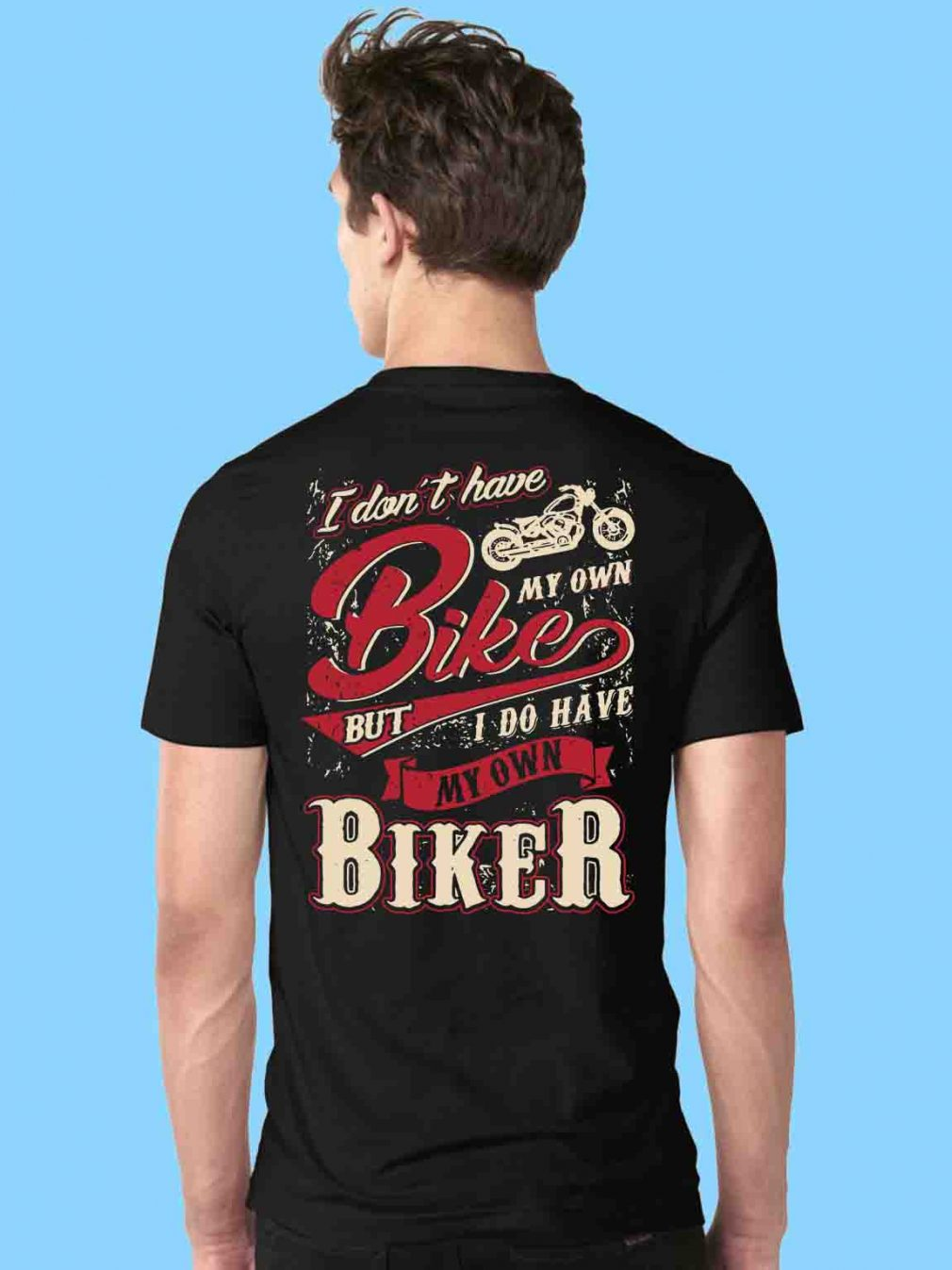 Official I don't have bike my own bike but I do have my own biker shirt