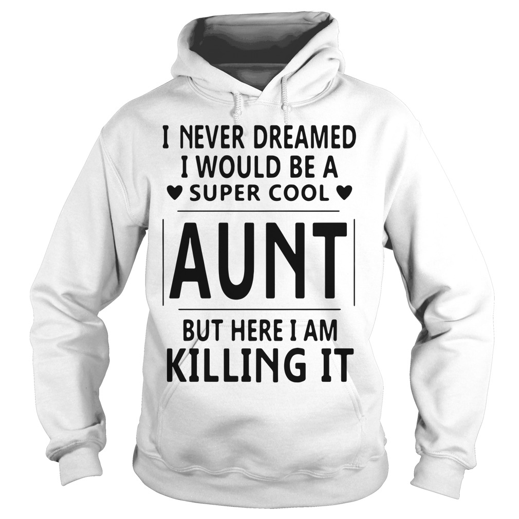 Official I never dreamed I would be a super cool aunt but here Hoodie