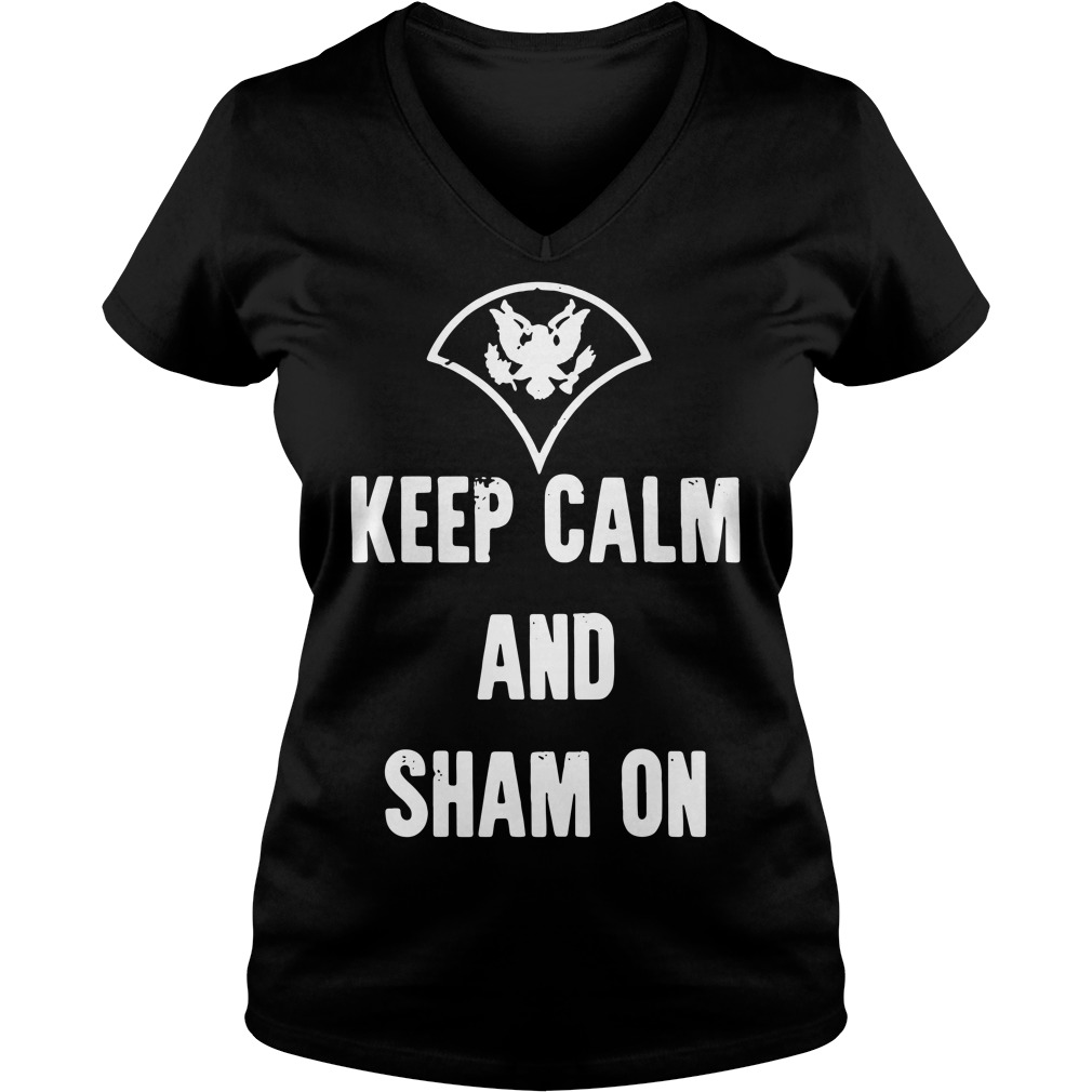 Official Keep calm and sham on V-neck T-shirt