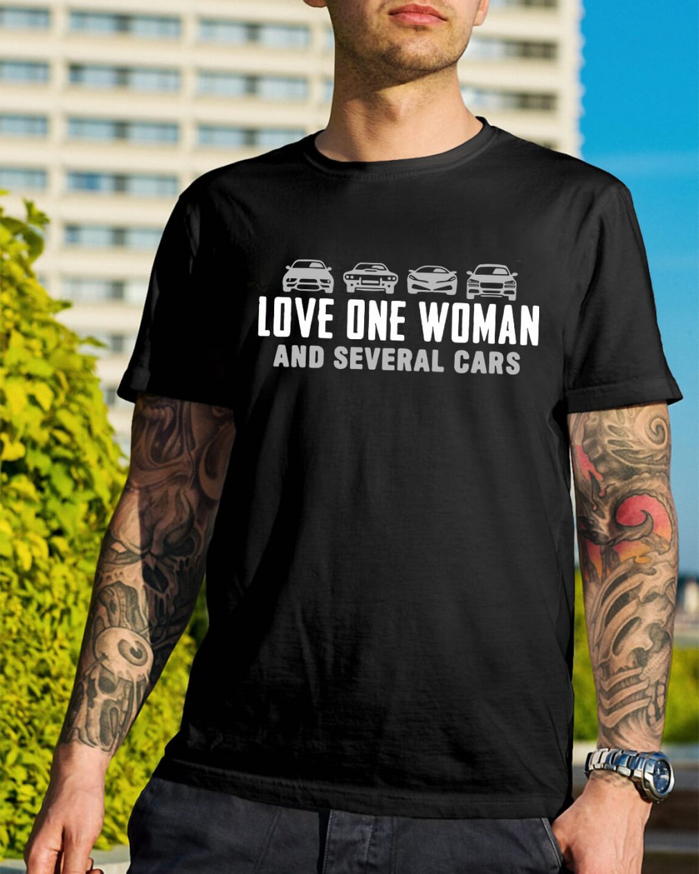 Official Love one woman and several cars shirt