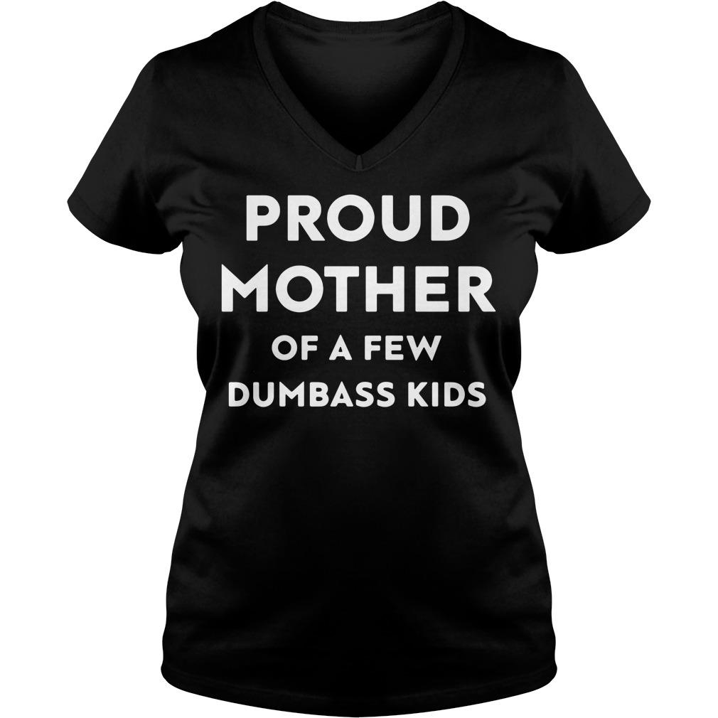 Official Proud mother of a few dumbass kids V-neck T-shirt
