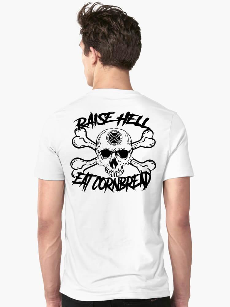 Official Raise hell eat cornbread shirt