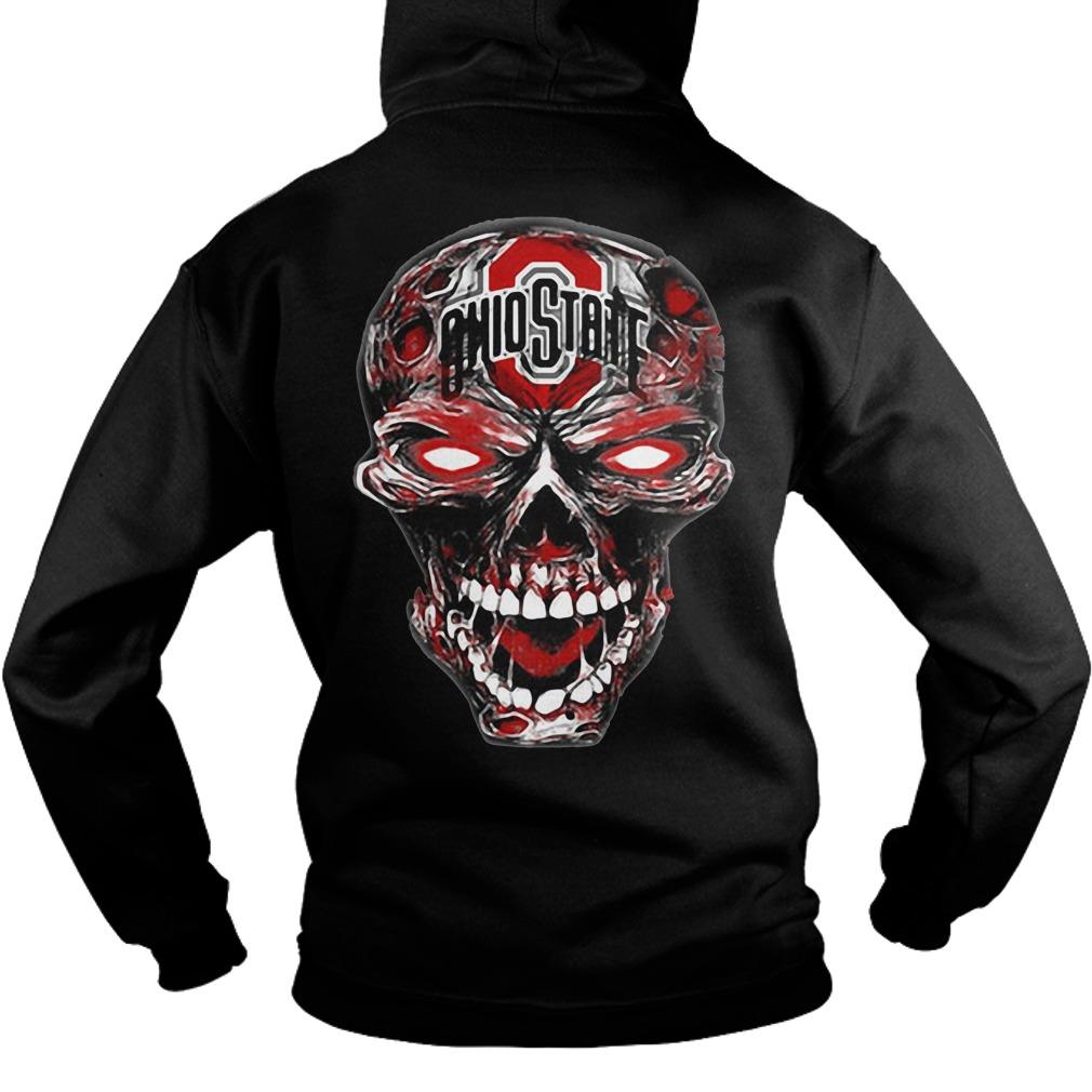 Ohio State Buckeyes skull Hoodie