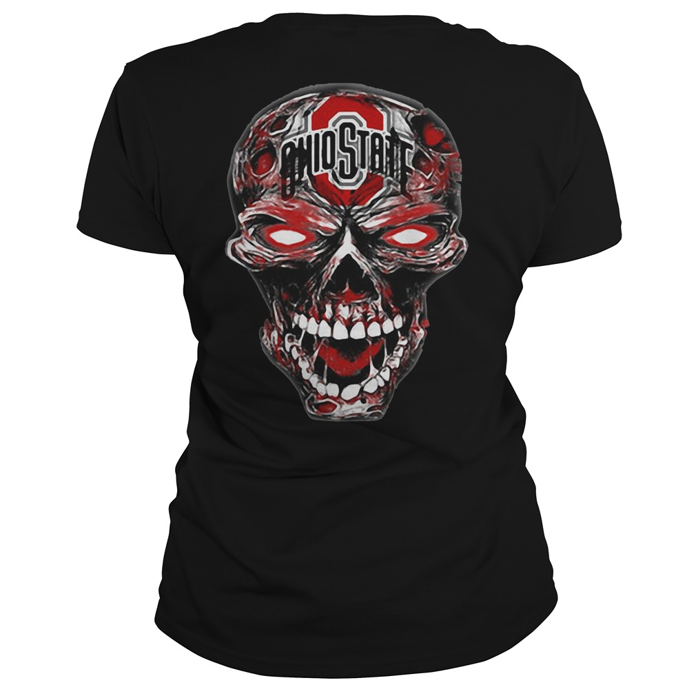 Ohio State Buckeyes skull Ladies Tee