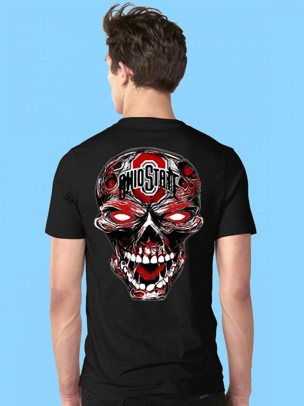 Ohio State Buckeyes skull shirt