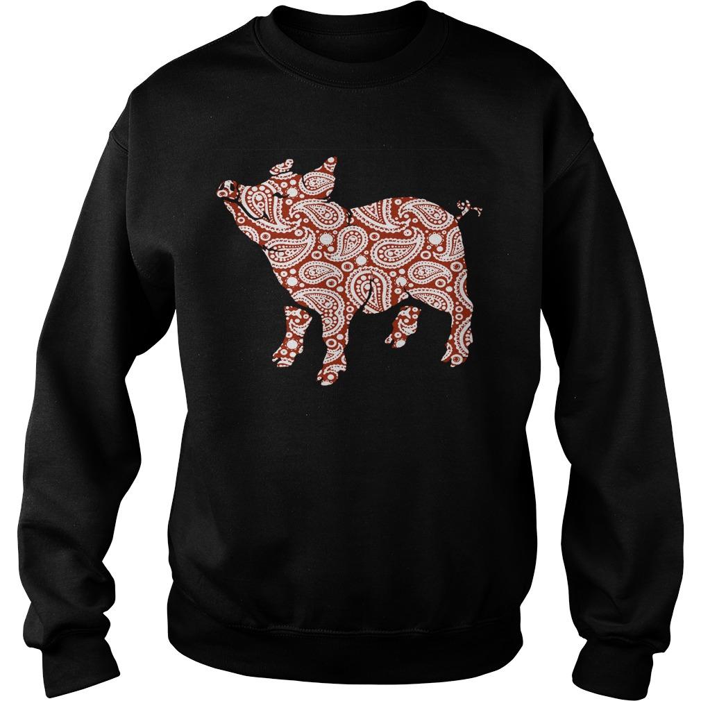 Paisley pig cute Sweater