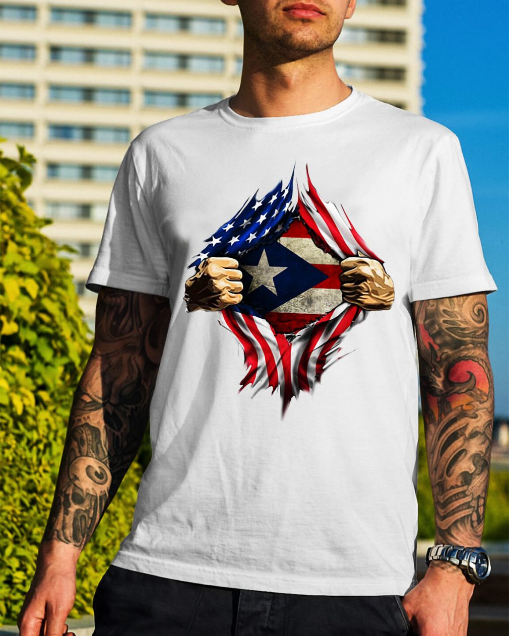 Puerto Ricans blood inside me classic shirt