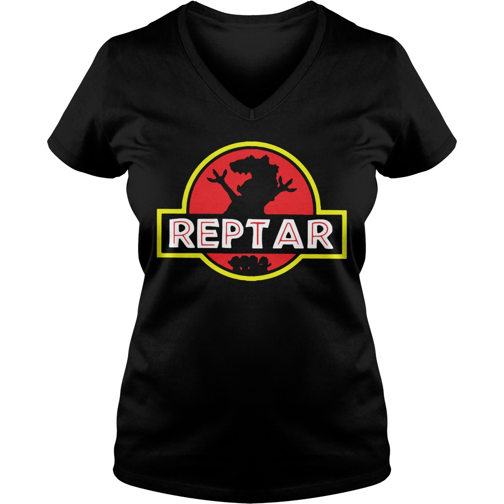 Reptar Jurassic park V-neck T-shirt
